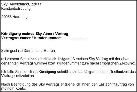 sky k 252 ndigen abo k 252 ndigungsschreiben f 252 r word