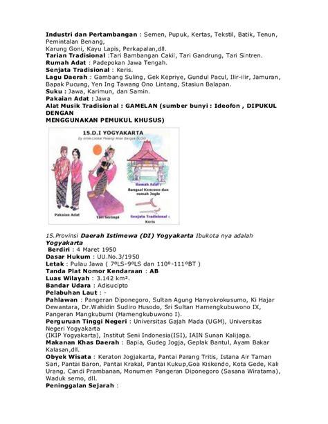 nama 33 provinsi di indonesia lengkap dengan pakaian gambar rumah adat kudus di rumah aja ya