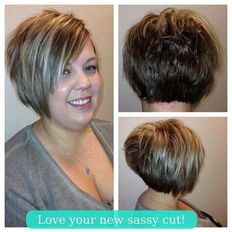 Hairstyles For Plus Size Women Stacked Bob | image result for pretty pixie for plus size woman hair