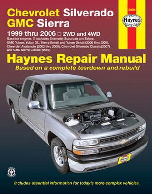 small engine service manuals 2007 chevrolet silverado 1500 lane departure warning chevrolet silverado gmc sierra haynes repair manual 1999 2006 hay24066