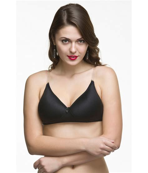 black women bra buy college girl black transparent back padded bra online