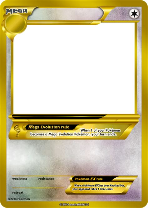 trading card template without energy type xy blanks mega gold colorless by aschefield101 on