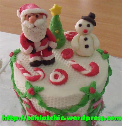 Topper Tusuk Kue Natal B santa claus dan snowman cake atau kue natal jual kue ulang tahun