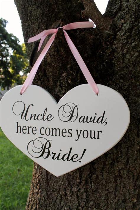 10 Themes For Here Comes - 10 quot x 15 quot wooden wedding sign sided