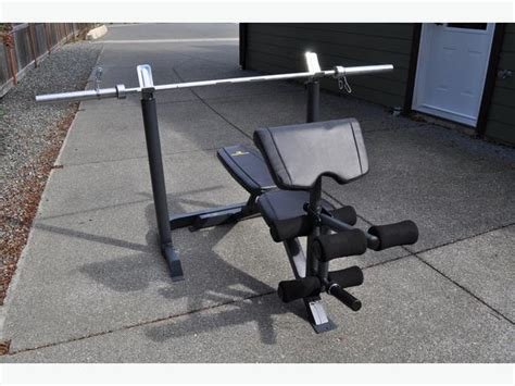 45 pound bench bar apex weight bench with 45 lb olympic straight bar 150