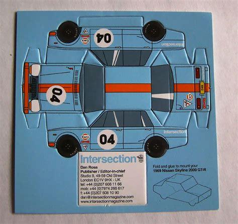 how to make a car card car business card