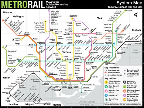 Toronto Metro Map by Fantasy Map Fuses The Ttc And Go Transit