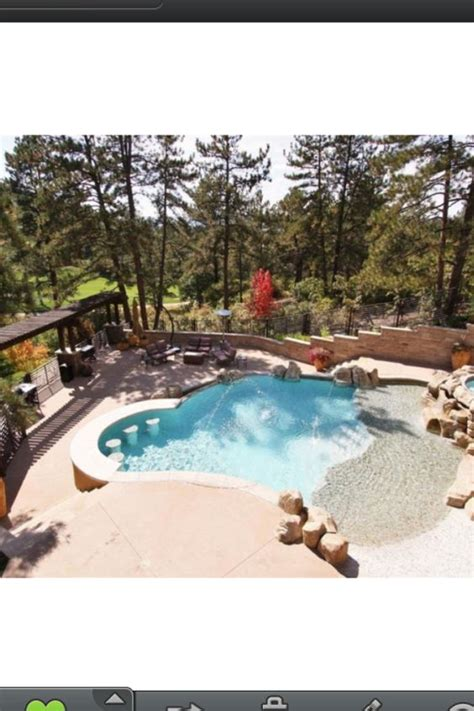 sloped backyard pool small pool with a sloping backyard swim up bar really