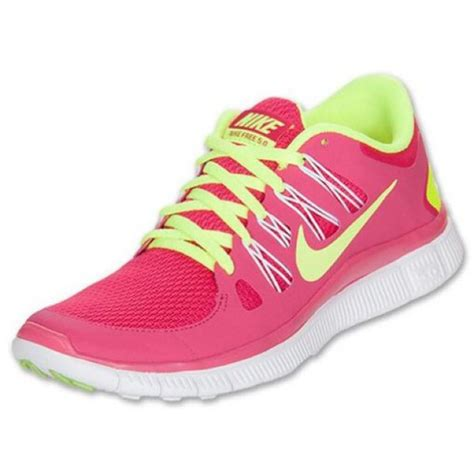 shoes nike nike running shoes pink yellow neon nike