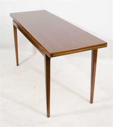 console table used as dining table jens risom convertible dining console table at 1stdibs