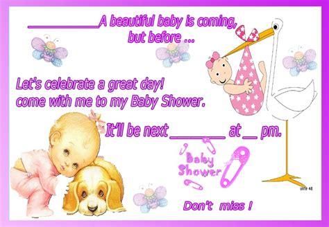 imagenes de invitaciones en ingles invitaciones de baby shower en ingles como llenar una