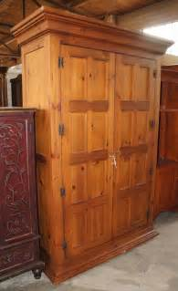 1 distressed furniture pine 2 door bedroom armoire tv