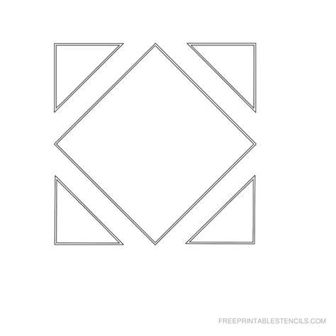 printable geometric stencils free printable stencils