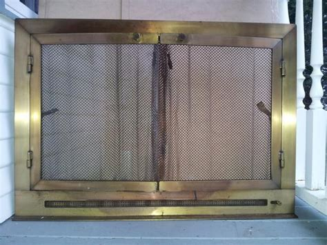 used fireplace doors for sale custom solid brass vented fireplace doors central saanich