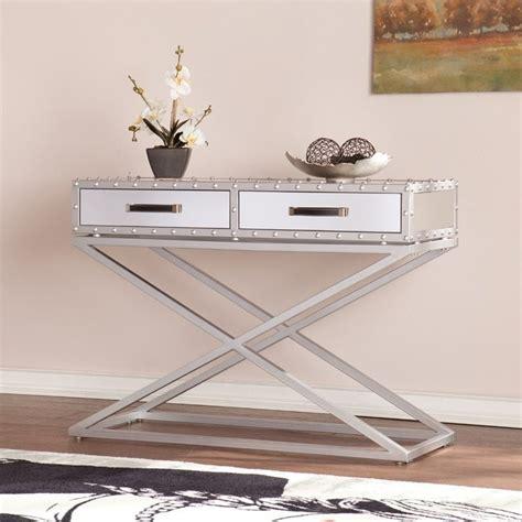 southern enterprises mirrored furniture southern enterprises lazio industrial mirrored console
