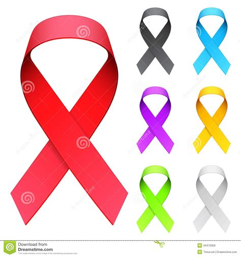 aids awareness color aids ribbon royalty free stock images image 34472959