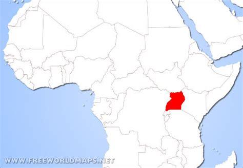 uganda on world map where is uganda located on the world map