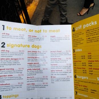 crif dogs menu crif dogs order food 1043 photos 1905 reviews dogs east