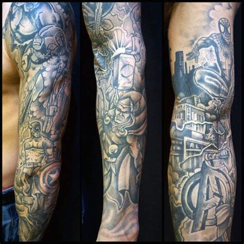 marvel tattoo sleeve 70 captain america designs for ink