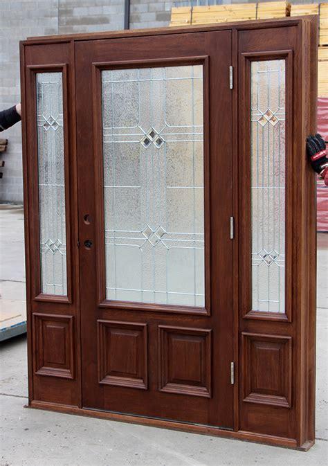 Wholesale Front Doors Exterior Door With Square Glass