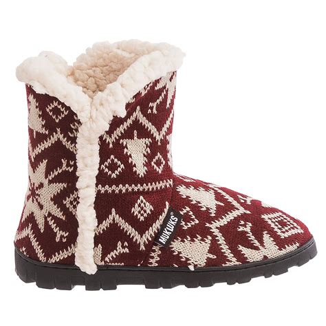 faux fur boot slippers muk luks faux fur trim boot slippers for save 82