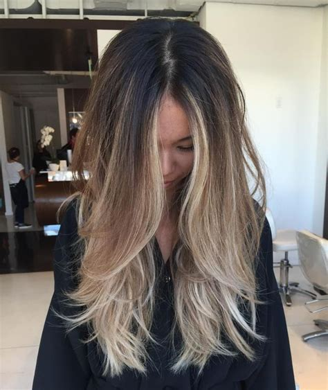 layered medium long length ash brownblonde balayage ombre escaille 6 tips to ombre your hair and 29 exles styleoholic