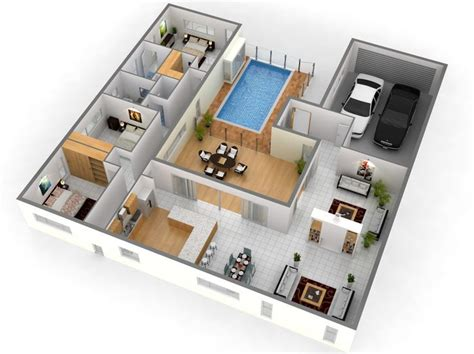 Best 25 3d Home Design Ideas On Pinterest 3d House House Plans With 3d Interior Images