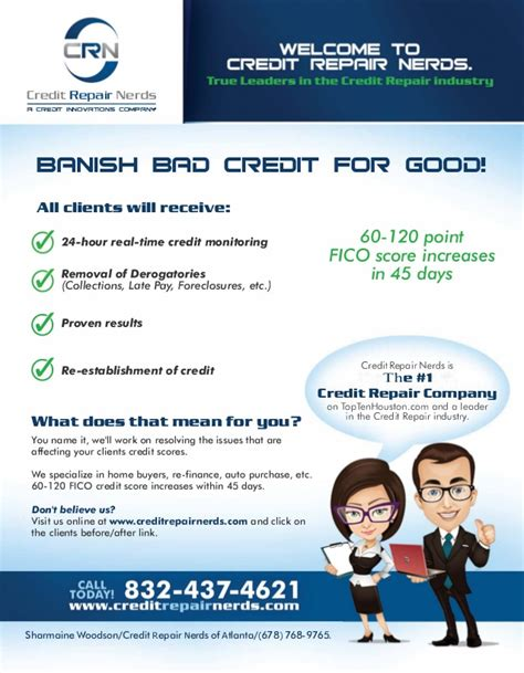 credit repair flyer templates credit repair nerds of atlanta flyer