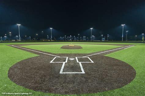 baseball field lighting systems musco s led lighting system lights up seminole county