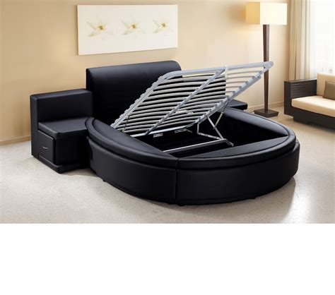 round leather bed dreamfurniture com owen black leather round bed with