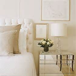 Cream And White Bedroom by White Silk Headboard Transitional Bedroom