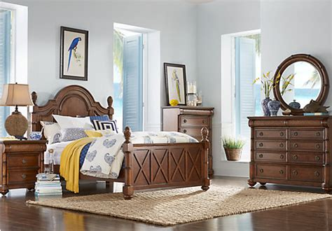 key west style bedroom furniture cindy crawford home key west tobacco panel 5 pc queen