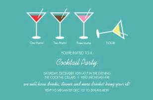 bar invitations martini cocktail invitation