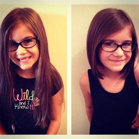 long bobs on kids before and after little girl haircut kids pinterest