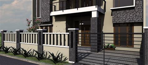 kumpulan contoh pagar rumah minimalis modern  mewah