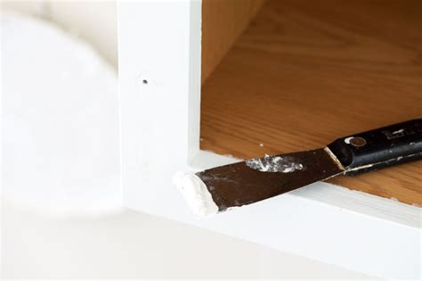 filling holes in cabinet doors kitchen tweak how to paint laminate cabinets in my own