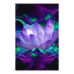 Lotus And Co Purple Lotus Flower And Its Meaning Stationery Design Zazzle