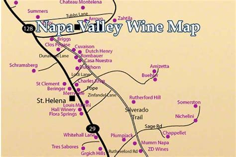 napa valley winery map napa valley wine country guide where to stay dine and in napa