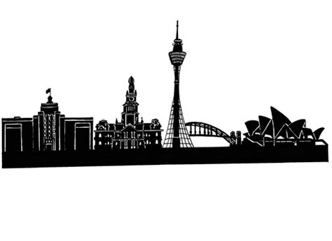 black and white sydney skyline wallpaper the facts and skyline sydney by glenn m b 252 low media culture cartoon