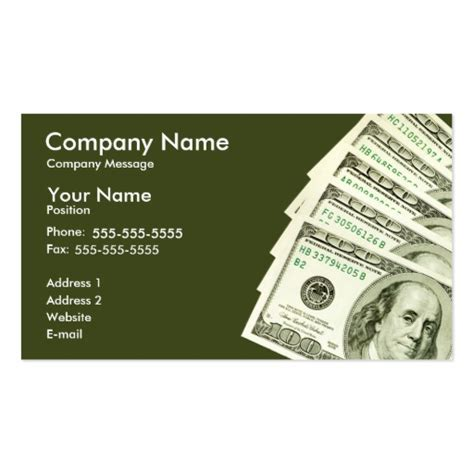 dollar bill business cards templates business card templates bizcardstudio