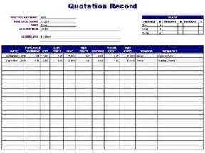 Sales Record Template by Quotation Record Log Free Layout Format