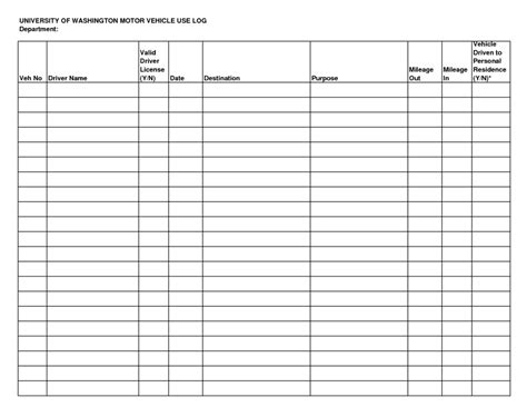 bill payment record template and printable vehicle