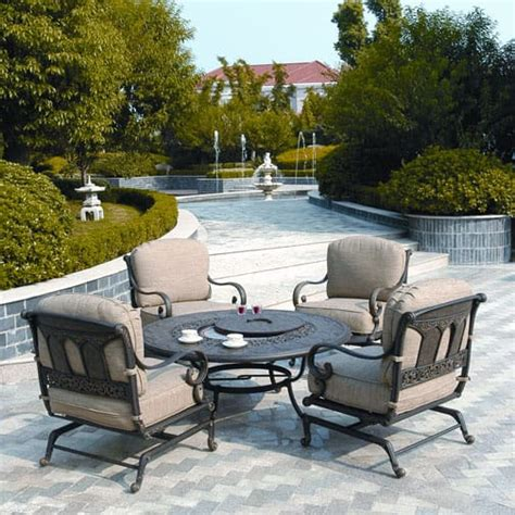 patio furniture pit table set st moritz pit set