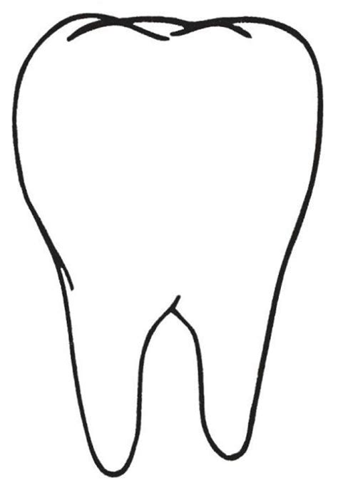 tooth templates free tooth pattern preschool winter craft