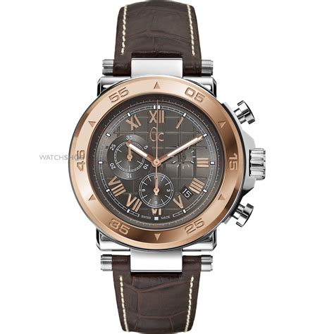 Gc 23006 Rosegold Brown Leather s gc gc 1 chronograph x90005g2s shop