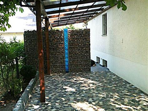 alternative zu glasbausteinen gabionen als sichtschutz