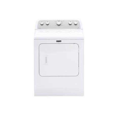 maytag bravos 7 0 cu ft electric dryer in white