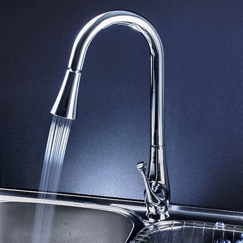 led kitchen faucet single handle chrome pull out led kitchen faucet modern