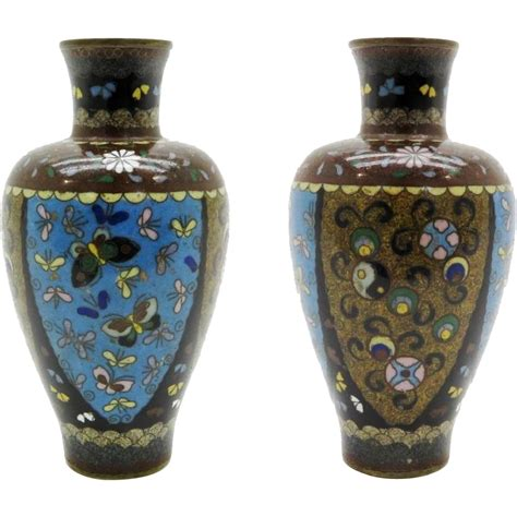 Antique Vase Identification by Antique Cloisonne Vase With Butterflies From