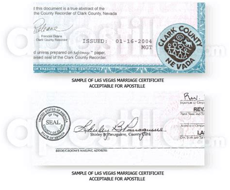 Las Vegas Vital Records Marriage Clark County Ohio Certificates